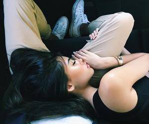 beauty, couple, and sleeping image
