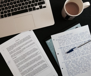 college, hard work, and homework image