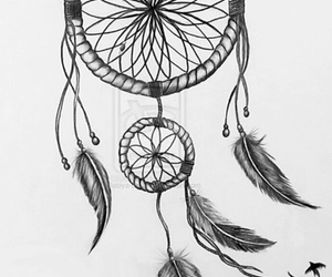 drawing and dreamcatcher image