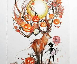 art, Halloween, and autumn image