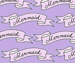 mermaid, purple, and wallpaper image