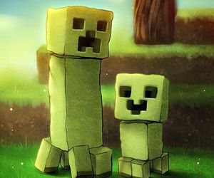minecraft and creepers image