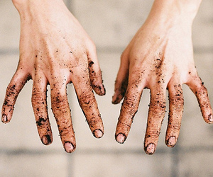 hands, dirt, and dirty image