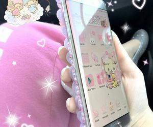 android, hello kitty, and kawaii image