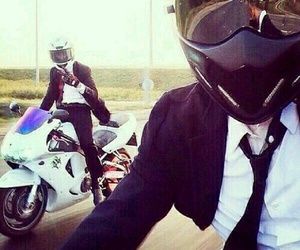 moto, boy, and suit image