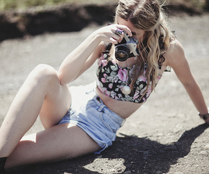 fashion, girl, and camera image