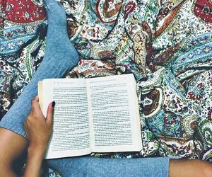 book, hipster, and socks image
