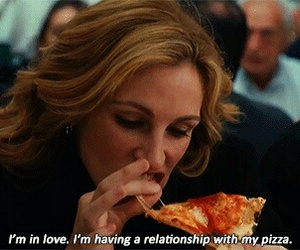 pizza, love, and Relationship image