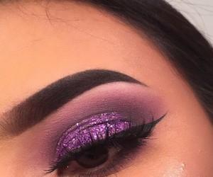 eyebrows, makeup, and purple image
