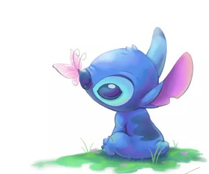 stitch, disney, and butterfly image