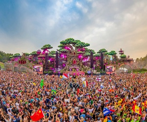 music, tomorrowland, and rave image
