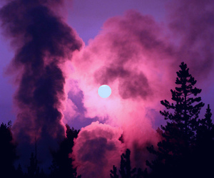 moon, pink, and sky image