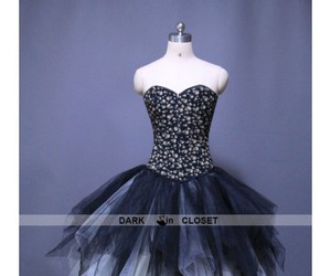gothic party dress, gothic prom dress, and gothic corset dress image