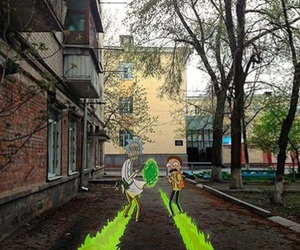 real life and rick and morty image