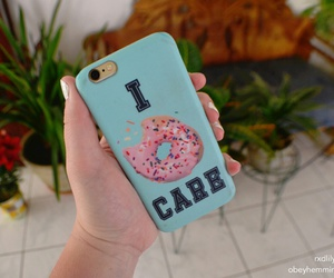 iphone, i donut care, and iphone cases image