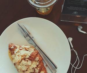 breakfast, croissant, and starbucks image