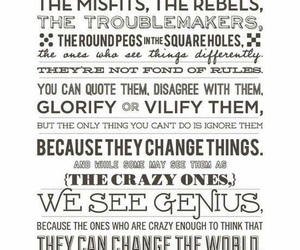 quote, Steve Jobs, and misfits image