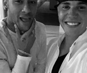 justin bieber, neymar, and boy image