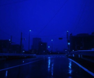 blue, city, and dark image