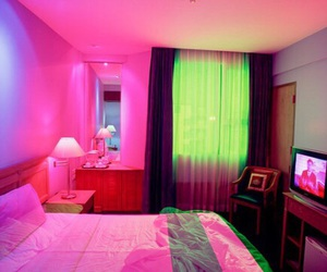 pink, room, and green image