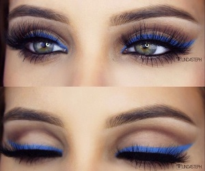 blue, lashes, and brows image