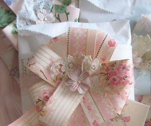Paper, ribbon, and shabby chic image
