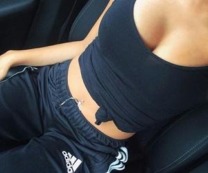 adidas, black, and girl image