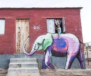 elephant, art, and kids image