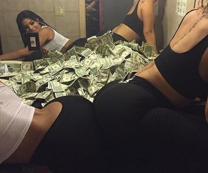best friends, ghetto, and money image