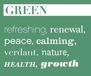 color, green, and qoute image