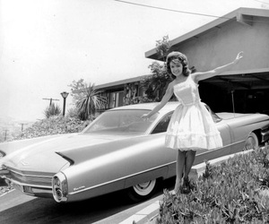 antique, black and white, and cars image