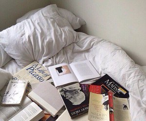 book, bed, and aesthetic image