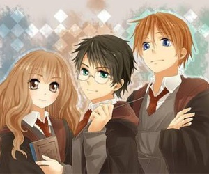 harrypotter, ron, and harry image