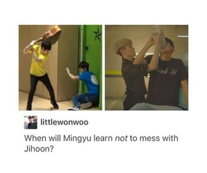 Seventeen, funny, and woozi image