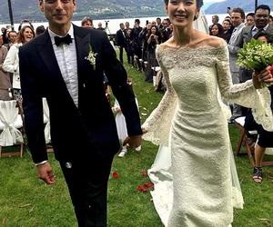 tao okamoto, wedding, and wedding dress image