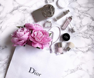 dior, flowers, and girl image