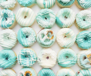 donuts, food photo, and pastel image