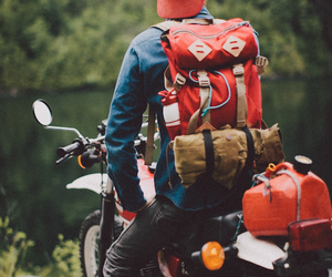 adventure, motorcycle, and boy image