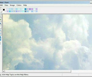 blue, pale, and sky image