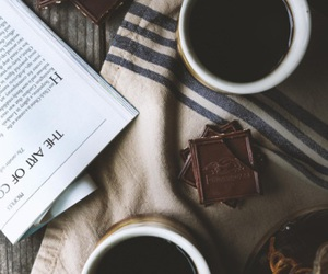 book, caffe, and chocolate image