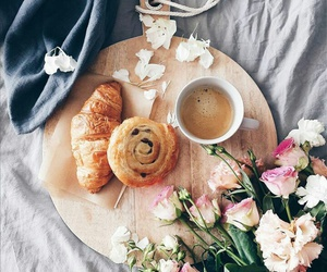 coffee, croissant, and food image