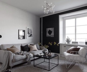 home, living room, and black image
