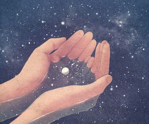 stars, art, and hands image