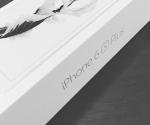 apple, black and white, and iphone image