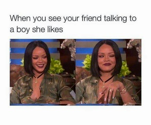 rihanna, funny, and friends image