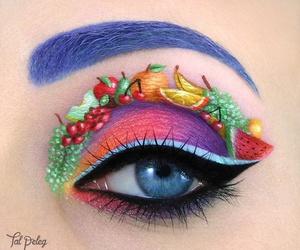 fruit, makeup, and eyes image