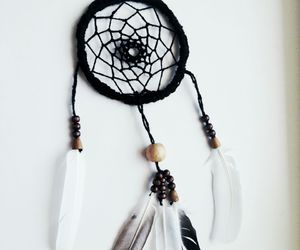 art, dreamcatcher, and white image