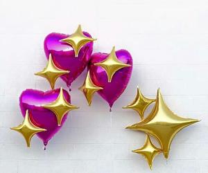 balloons, heart, and emoji image