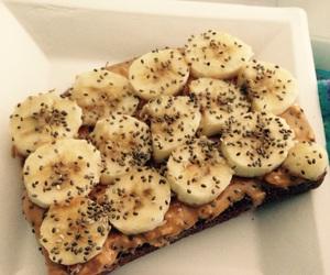 banana, breakfast, and chia seeds image