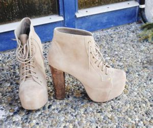 shoes, fashion, and beige image